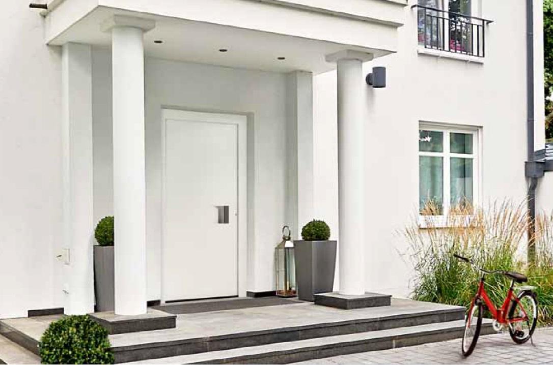 Raamdecoratie Voordeur: Fototheek aluminium voordeur modern baeten van ...