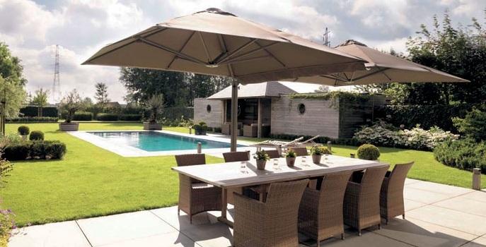 prostor parasols van der gun zonwering bv vianen uw. Black Bedroom Furniture Sets. Home Design Ideas